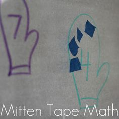 Toddler Approved!: Mitten Tape Math