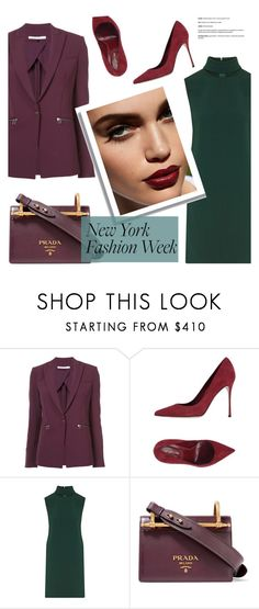 """""""Untitled #224"""" by fanfanfann ❤ liked on Polyvore featuring Veronica Beard, Sergio Rossi, Theory and Prada"""