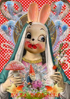 La Madonna degli Artisti collage digitale Creazioni Fata Bislacca aka Cathy Candolfi