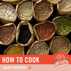 Instead of stocking your pantry with canned beans, you'll save money and get a more flavorful result by using dried beans. One 15-ounce can of beans equals about 1 1/2 cups of cooked beans, while a 1-pound package of Camellia Brand dried beans yields about 5-6 cups of cooked beans. That's a lot more to work with, for about the same price. Can Of Beans, How To Cook Beans, Camellia Beans Recipe, Thing 1, Dried Beans, 1 Pound, Bean Recipes, Pantry, Cups