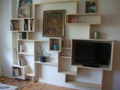 Custom Made Wall Bookcase by STORnewyork on Etsy, $1000.00