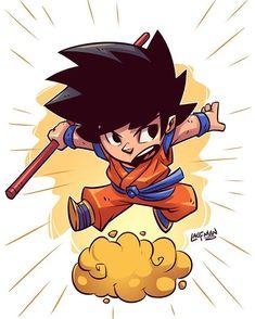 "7,787 curtidas, 35 comentários - Derek Laufman (@dereklaufman) no Instagram: ""Chibi Goku #dragonballz #goku #fanart #chibi #dereklaufman #clipstudiopaint #mangastudio"""