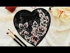 An easy technique to paint ROSES   Acrylics   Heart Of Love   Painting on Wood - YouTube Cake Painting, Painting On Wood, Painted Cakes, Love Heart, Roses, Easy, Youtube, Pintura, Acrylics