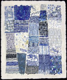 Blue China mosaic Gee's Bend quilt