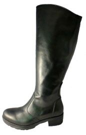 High boots black leather by Nero Giardini
