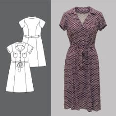 Kjole Short Sleeve Dresses, Dresses With Sleeves, Sewing Patterns, Knitting, Design, Diy, Ideas, Fashion, Curve Dresses