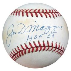Joe DiMaggio Autographed AL Baseball HOF 55 PSA/DNA #S02391 . $749.00. This is an Official American League Baseball that has been hand signed by Joe DiMaggio. The autograph has been authenticated by PSA/DNA. It has their sticker and matching full page certificate.
