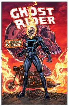 Ghost Rider classic by juan7fernandez on @DeviantArt