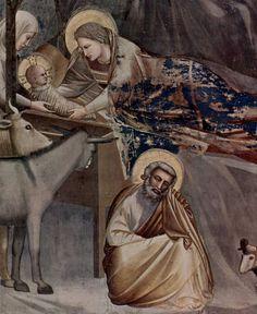 Giotto - Cappella degli Scrovegni, Nascita di Cristo (dettaglio)