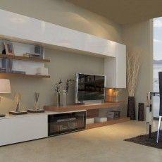 Mueble de salón con estantes