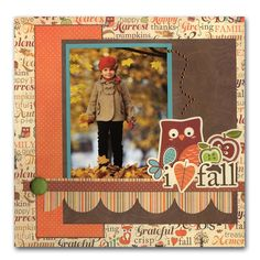 scrapbook ideas layouts FOR FALL | Ideas » Scrapbook Layouts » Happy Harvest Fall Layout