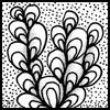 Zentangle pattern: Antidots
