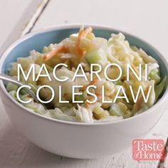 Macaroni Coleslaw Recipe
