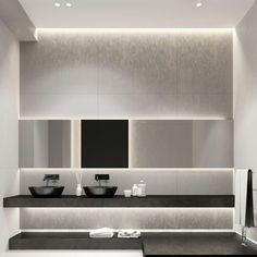 Banheiro com iluminação de Led