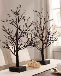Add haunting elegance to your Halloween display. Orange Led Lights, Light Orange, Realistic Christmas Trees, Slim Tree, Balsam Hill, Halloween Displays, Tree Shapes, Tree Decorations, Halloween Decorations