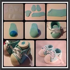 How to make Baby Shoes....could work with clay as well.