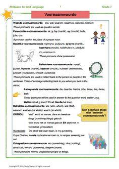 Afrikaans Language, Kids Education, Worksheets, Student, Teaching, Math, Words, Languages, Homework