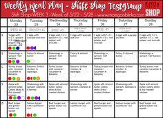 Shift Shop week 3 meal plan edited