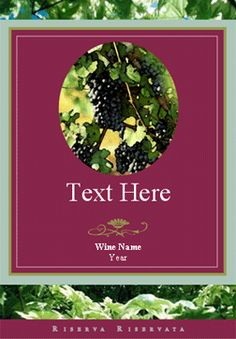 Editable Label .PDF great for making custom wine bottle labels and ...