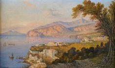 Consalvo Carelli(1818-1900) - A View of Sorrento.