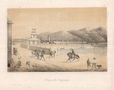 """""""Plaza de Copiapó"""". Viaggio nel Deserto di Atacama (Cile) del 1853-54. #viaggi #cile #atacama #esplorazioni #illustrazioni"""