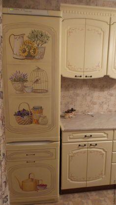 Купить Роспись холодильника - комбинированный, роспись холодильника, роспись стен и мебели, роспись на холодильнике