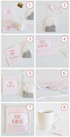 *VALENTINE'S DAY INSPIRED GOODNESS* { D2, P1 } | DIY projects ♥ tutorials ♥ freebies ♥ treats | Won't You Be Mine? It's Tea Time! ~ Free Printable by Creature Comforts