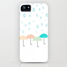 Umbrellas Phone Case #rain #umbrella #pastel