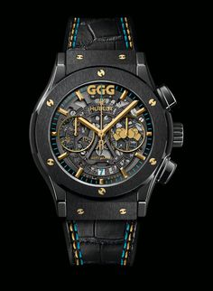 "Hublot celebrated the opening of its second Las Vegas boutique with the special appearance by brand ambassador Gennady ""GGG"" Golovkin. Hublot Watches, Cool Watches, Watches For Men, Gennady Golovkin, Las Vegas, Hublot Classic Fusion, Boxing, Aperture"