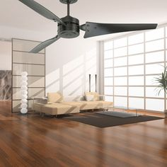 The Loft Ceiling Fan brings plenty of power to this modern, uptown industrial design.