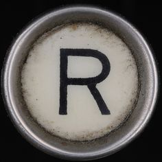 typewriter key letter R Dear Letter, Letter T, Name Letters, Letters And Numbers, Alphabet Photography, Typewriter Keys, Letter Stencils, Lettering Design, Stencil Lettering