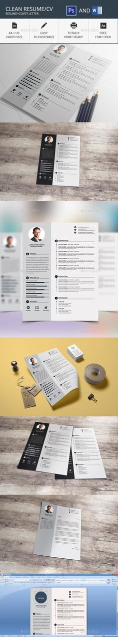 #Resume Template - Resumes Stationery Download here: https://graphicriver.net/item/resume-template/18518629?ref=alena994