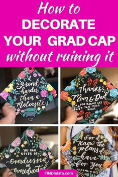 Want to decorate your grad cap? This guide will help you decorate your grad cap without ruining it! We also have the secret to getting your perfect graduation cap without any hassle! Graduation Cap Toppers, Graduation Cap Designs, Graduation Cap Decoration, Graduation Diy, Grad Cap, Diy Decorate Graduation Cap, High School Graduation Dresses, Decorated Graduation Caps, Graduation Quotes