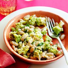 The orange vinaigrette brings out the delicate sweetness of Romanesco and doesn't mask its beautiful pale green color. Easy Bean Recipes, Bean Salad Recipes, Broccoli Recipes, Wine Recipes, Healthy Recipes, Vegetarian Recipes, Light Recipes, Healthy Options, Healthy Foods