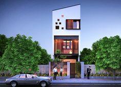 Thiết kế mặt tiền nhà phố hiện đại đẹp