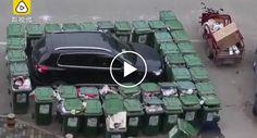 Homem Do Lixo Vinga-se De Carro Mal Estacionado De Forma Bastante Original