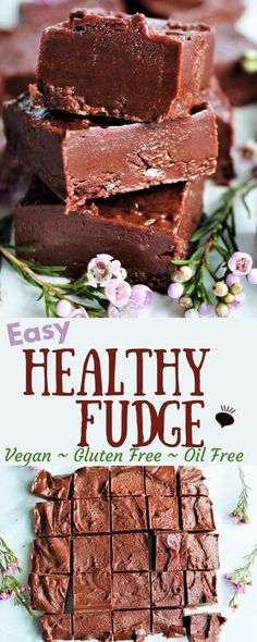This healthy fudge is easy and delicious! This freezer fudge is made with only almond butter, agave, and cocoa, it's vegan, gluten free, refined sugar free, oil free and soy free too. It's unbelievable that something so easy can taste so good! Make it in minutes, then keep it in the freezer of those chocolate cravings! thehiddenveggies.com #healtyfudge #almondbutterfudge #freezerfudge  #veganfudge #oilfreefudge via @https://www.pinterest.com/gfveganmeals/