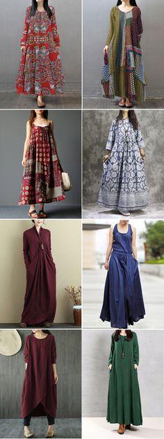 Only the blue one. Find Fashion, Vintage,Floral and Maxi Dresses on Newchic. Vintage Dresses, Vintage Outfits, Fashion Vintage, Dress Sewing Patterns, Clothing Patterns, Linen Dresses, Maxi Dresses, Dress Vestidos, Indian Designer Wear