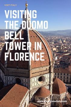 One thing that you must do when visiting Florence is walk up to the top of the Duomo Bell Tower. It is by far one of the best viewpoints in all of the city. Italy Travel Tips, Rome Travel, Europe Travel Guide, Travel Guides, Europe Destinations, Positano, Amalfi, Things To Do In Italy, Ukraine
