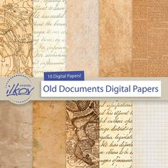 Old Paper Digital Papers for Scrapbooks Crafts  by AmandaIlkov
