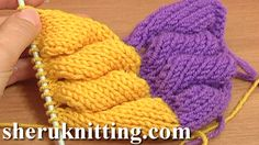 3D KNIT WHEAT EAR STITCH PATTERN Tutorial 9 Part 1 and  2. http://sheruknitting.com/knitting-stitch/knitting-stitch-patterns/item/705-3d-knit-wheat-ear-stitch-pattern.html http://sheruknitting.com/knitting-stitch/knitting-stitch-patterns/item/706-knitting-wheat-ear-stitch-pattern.html Learn how to knit the 3D wheat ear made of plain stockinette. You can make a whole fabric textured of these wheat ears, or you can complete only one wheat ear motif and use it as a decorative element.