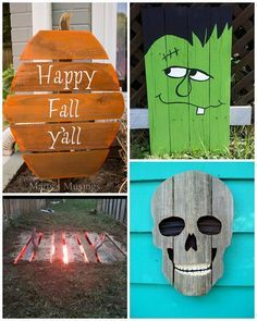 4 Easy Steps For Developing A Sunroom Best Halloween Wood Pallet Decorations - Crafty Morning Pallet Halloween Decorations, Halloween Wood Crafts, Holiday Crafts, Halloween Pallet Signs, Fall Pallet Signs, Thanksgiving Decorations, Halloween Palette, Fall Halloween, Vintage Halloween