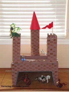 Cardboard Castle building