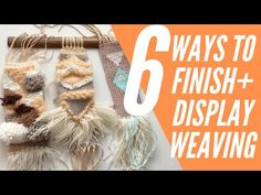 The weaving is off the loom and now you are ready to finish it for hanging or displaying. Here are 7 ways to finish the edges of the weaving. Weaving Art, Weaving Patterns, Loom Weaving, Weaving Process, Weaving Techniques, Woven Wall Hanging, Loom Knitting, Burlap Wreath, Twine