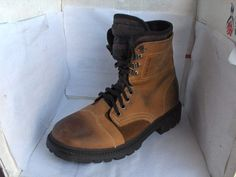 KENNETH COLE REACTION MENS BEIGE BOOTS NUBUCK LEATHER SIZE 9 MEDIUM  #KennethColeReaction #HikingTrail