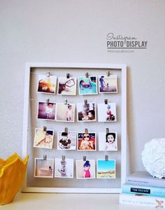 Diy photo corner heart heart photos creative diy diy ideas diy decora tu pared con un collage de fotos kenay home solutioingenieria