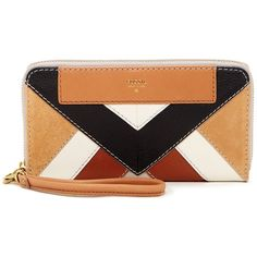 Fossil Amanda Leather Clutch (175 MYR) ❤ liked on Polyvore featuring bags, handbags, clutches, neutral multi, fossil clutches, leather wristlet, leather purse, leather wristlet purse and genuine leather handbags