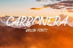 Carbonera Brush Fonts by AF Studio on Creative Market