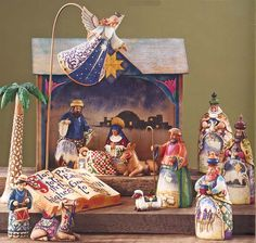 The Jim Shore Collection - Heartwood Creek Nativity. This is not vintage but it is the one I have. I love it.
