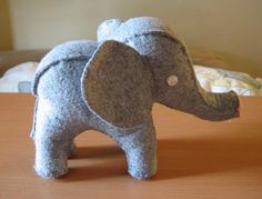 Recycled sweater elephant